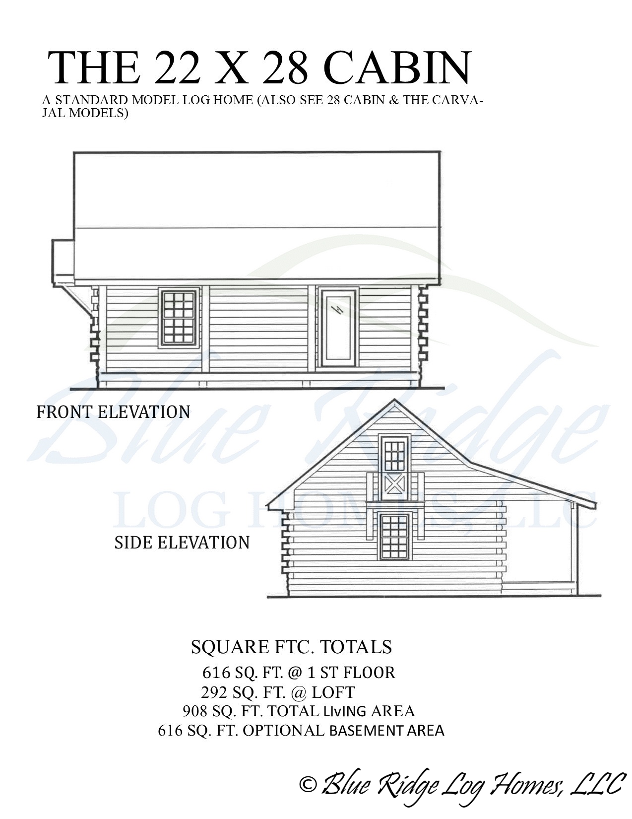 22x28Cabin-Elevation